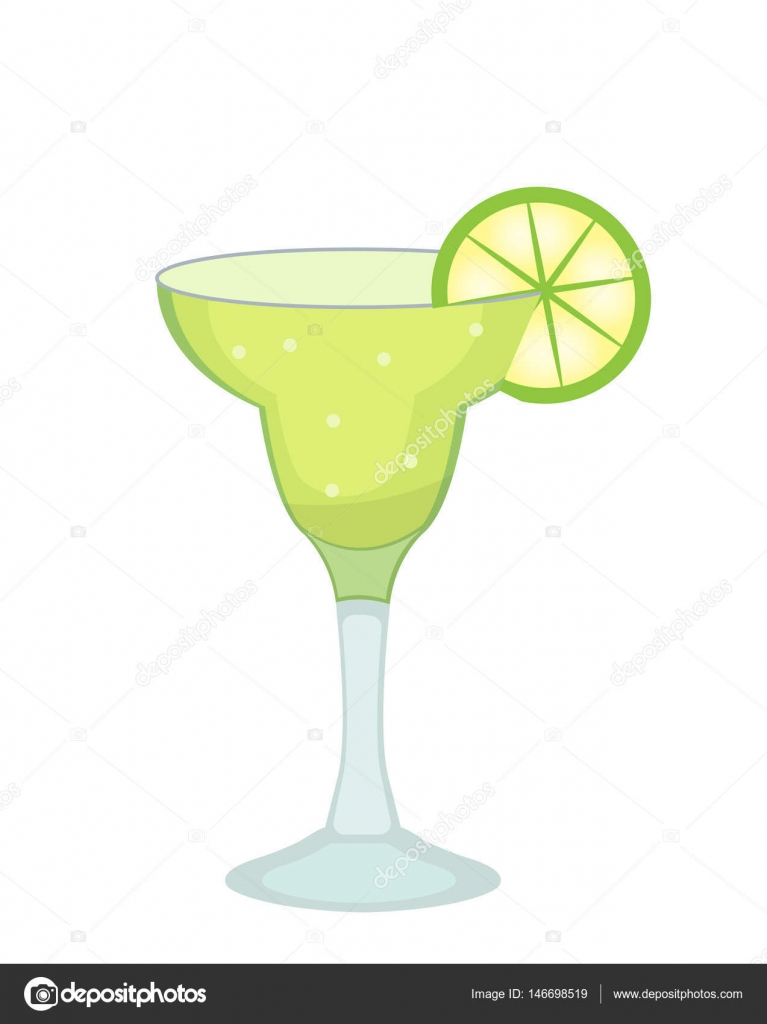 cocktail glass for margarita and tequila with lime slice icon flat rh depositphotos com cartoon margarita picture cartoon margarita glass