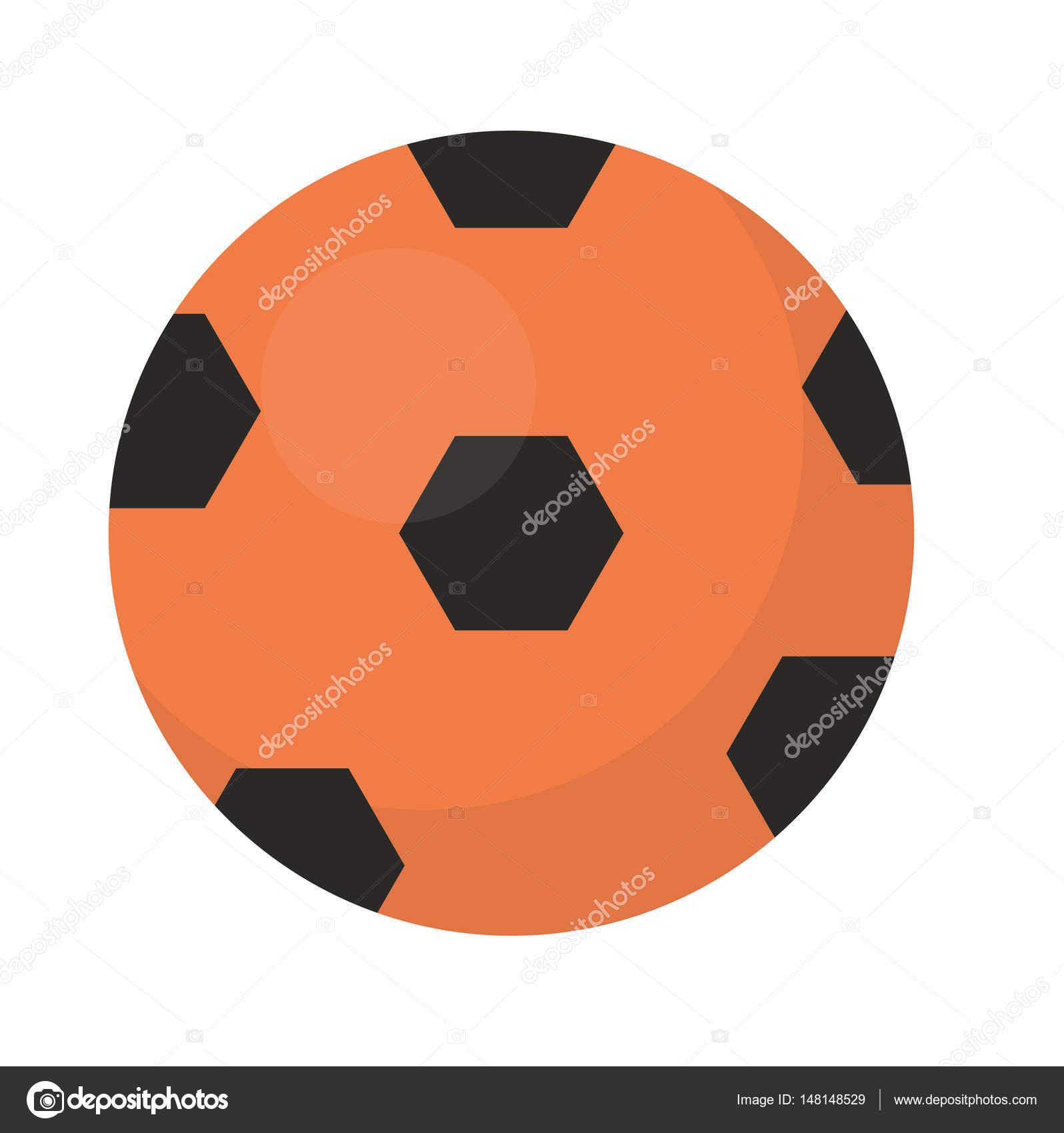 ボール サッカー アイコン、フラット、漫画のスタイル。白い背景上に分離