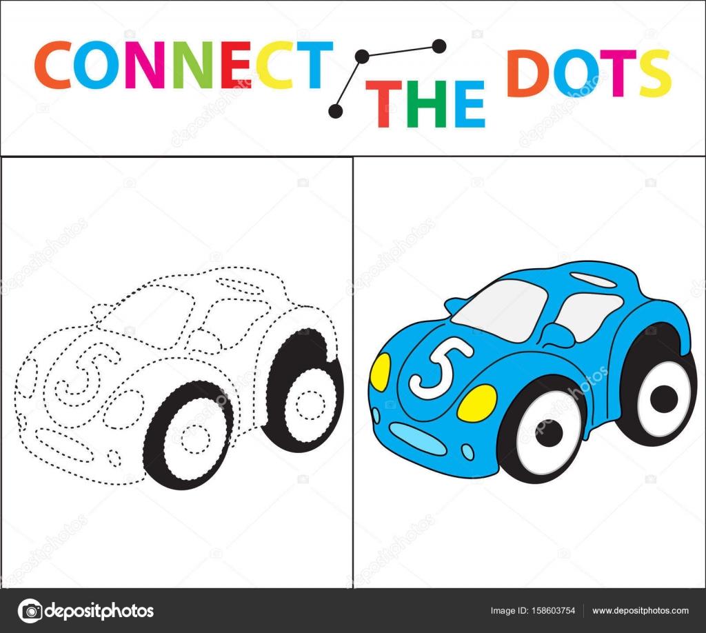 çocuk Motor Becerileri Için Eğitici Bir Oyun Nokta Resim Bağlayın