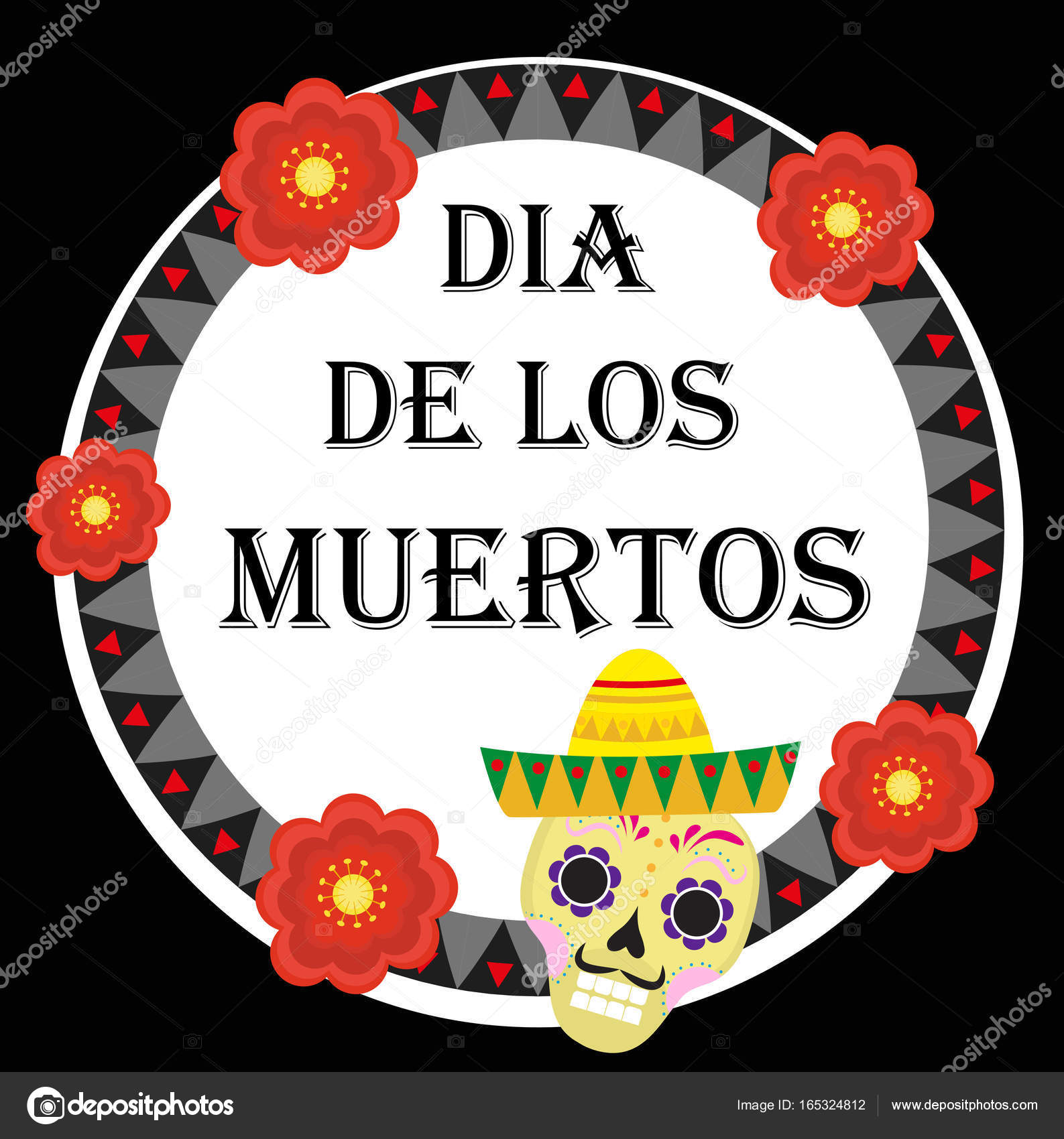 Day of the dead mexican holiday greeting card poster flyer dia de day of the dead mexican holiday greeting card poster flyer dia de los m4hsunfo