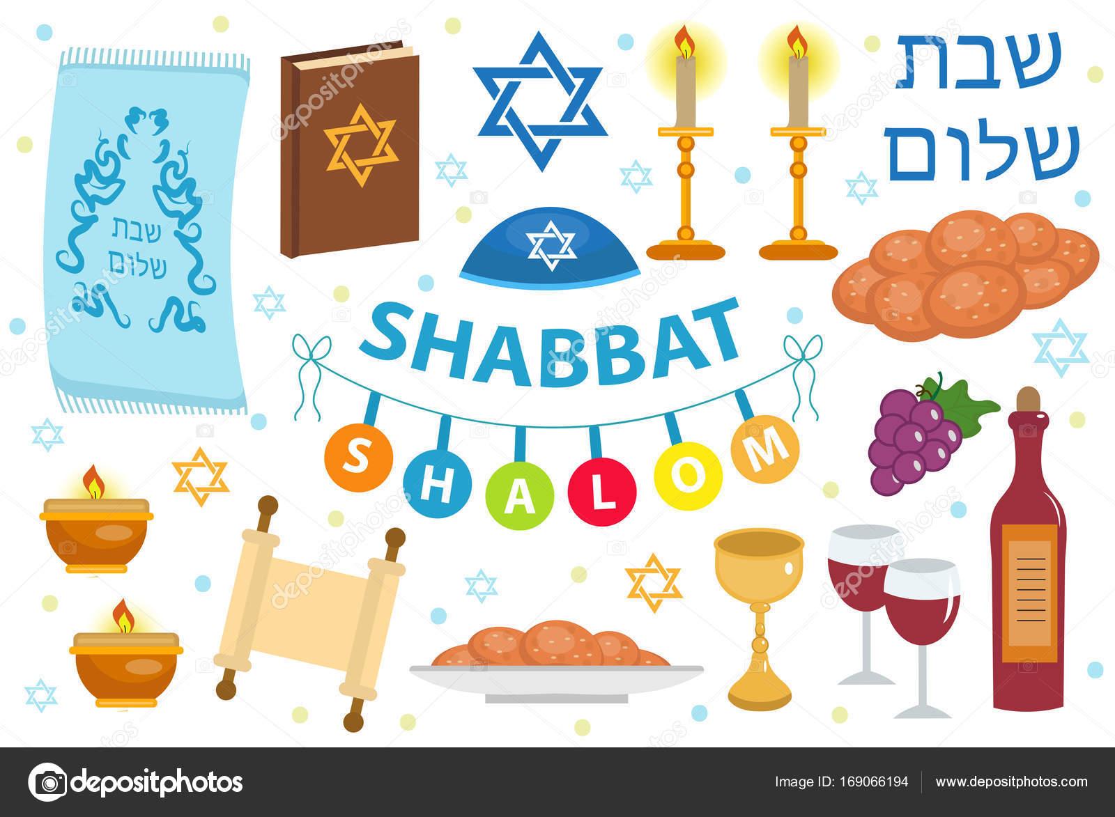 Shabbat shalom icon set flat cartoon style collection of jewish shabbat shalom icon set flat cartoon style collection of jewish holidays symbol biocorpaavc