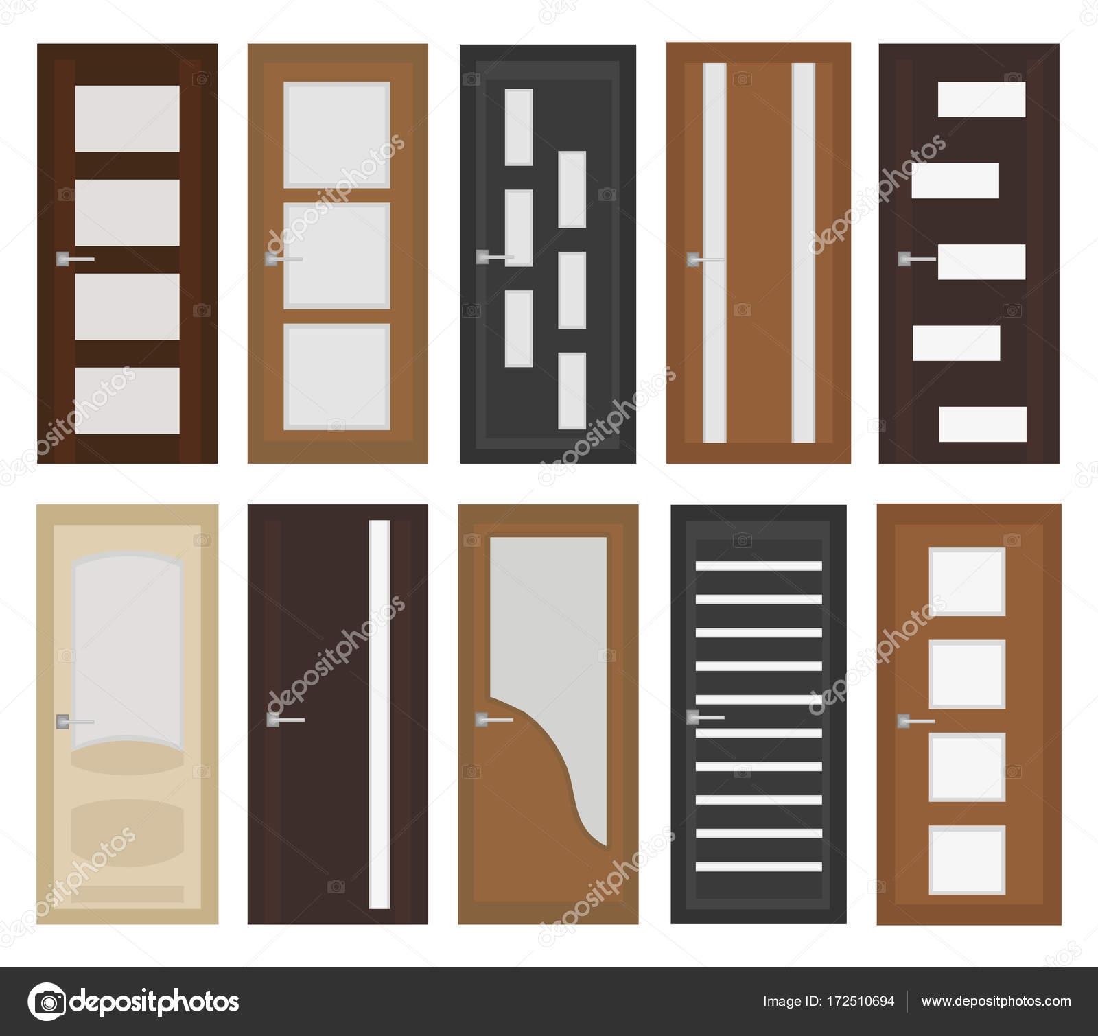 Estilo de conjunto plano de puertas de interior puerta - Tipos de puertas de interior ...