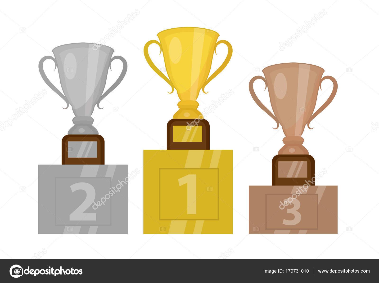 Campeão Da Copa Ouro No Pedestal, O Primeiro Lugar
