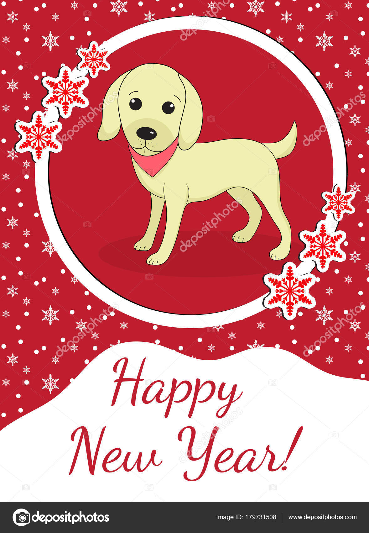 happy chinese new year 2018 greeting card with a dog china new year template for
