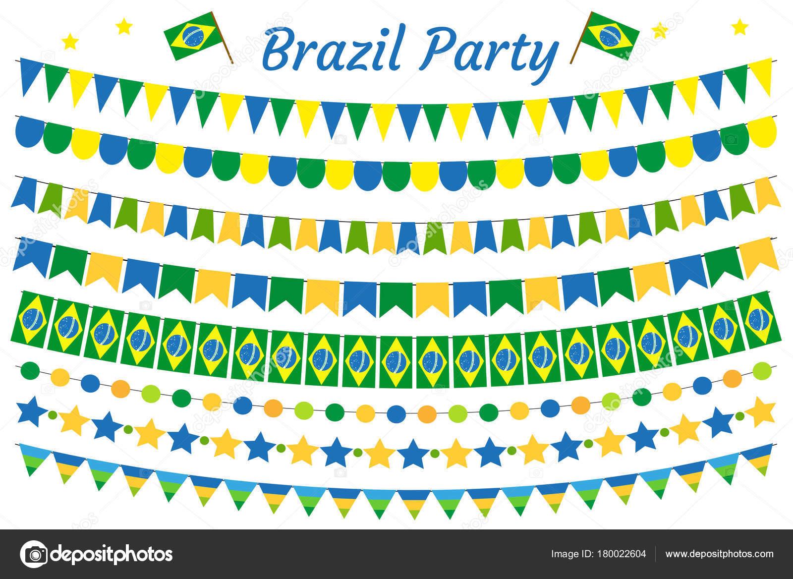Brasilien Girlande Satz Brasilianische Festschmuck Ammer Party