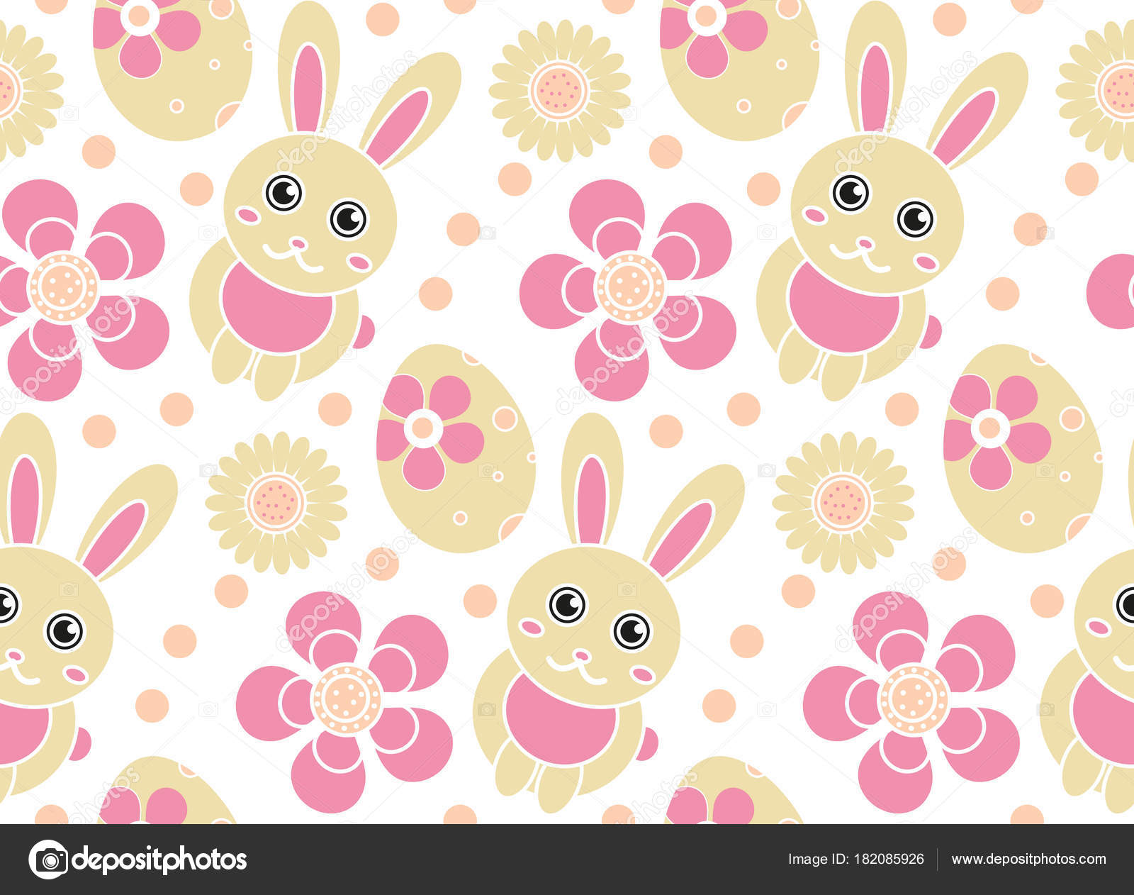 Cute Easter Seamless Pattern Spring Repeating Textures Childrens Baby Kids Endless Background Paper Wallpaper Vector Illustration By Amelie1