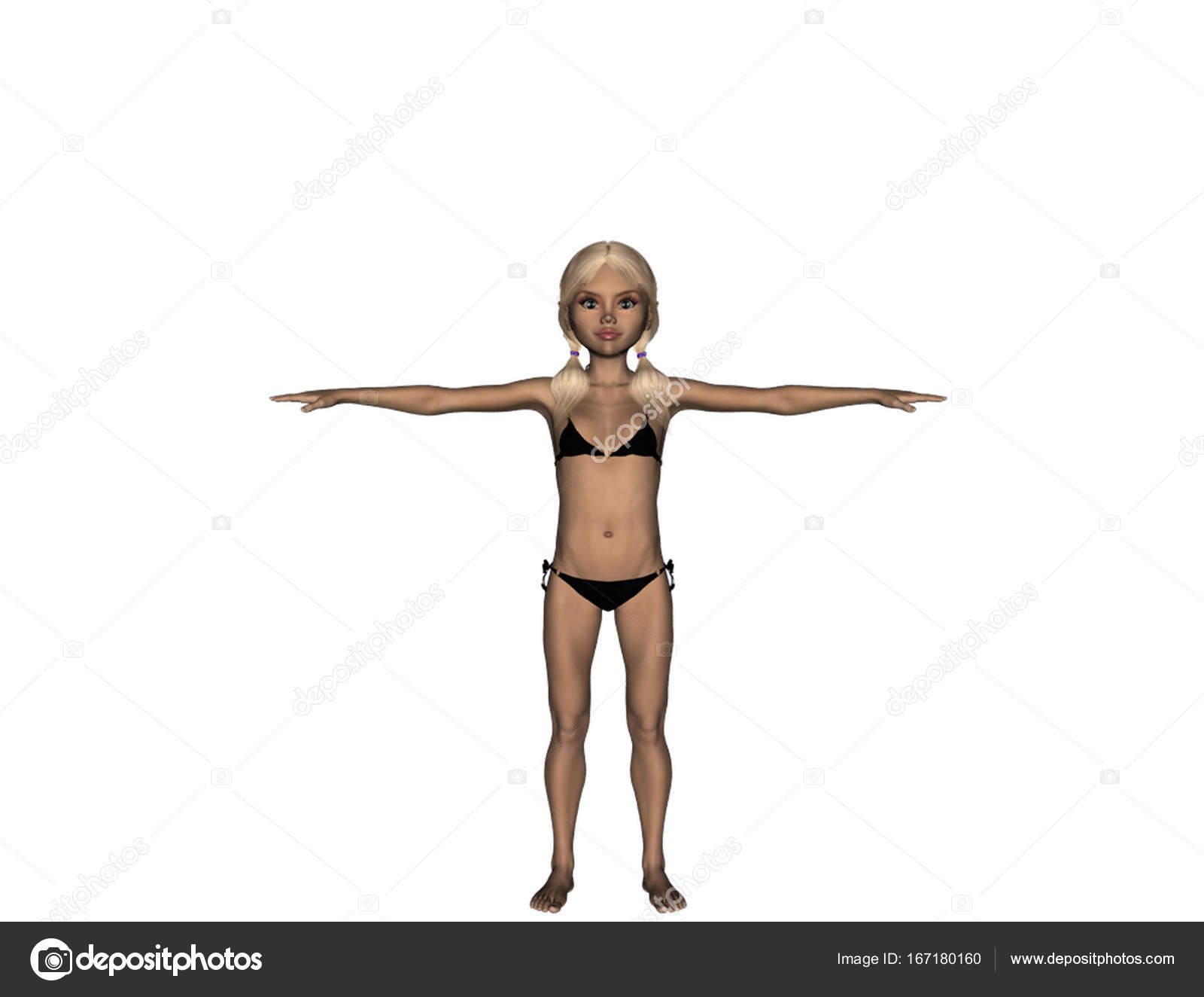 Costumi Da Bagno Per Ragazze 13 Anni : Ragazza in costume da bagno cresce a anni u foto stock
