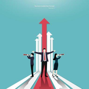 Business teamwork and arrow concept