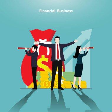 Financial business concept