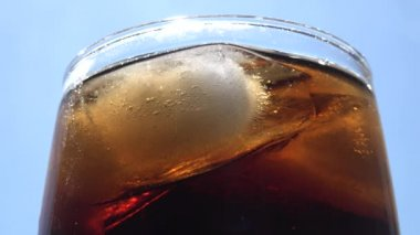 Cola Bubbles and Blue Sky