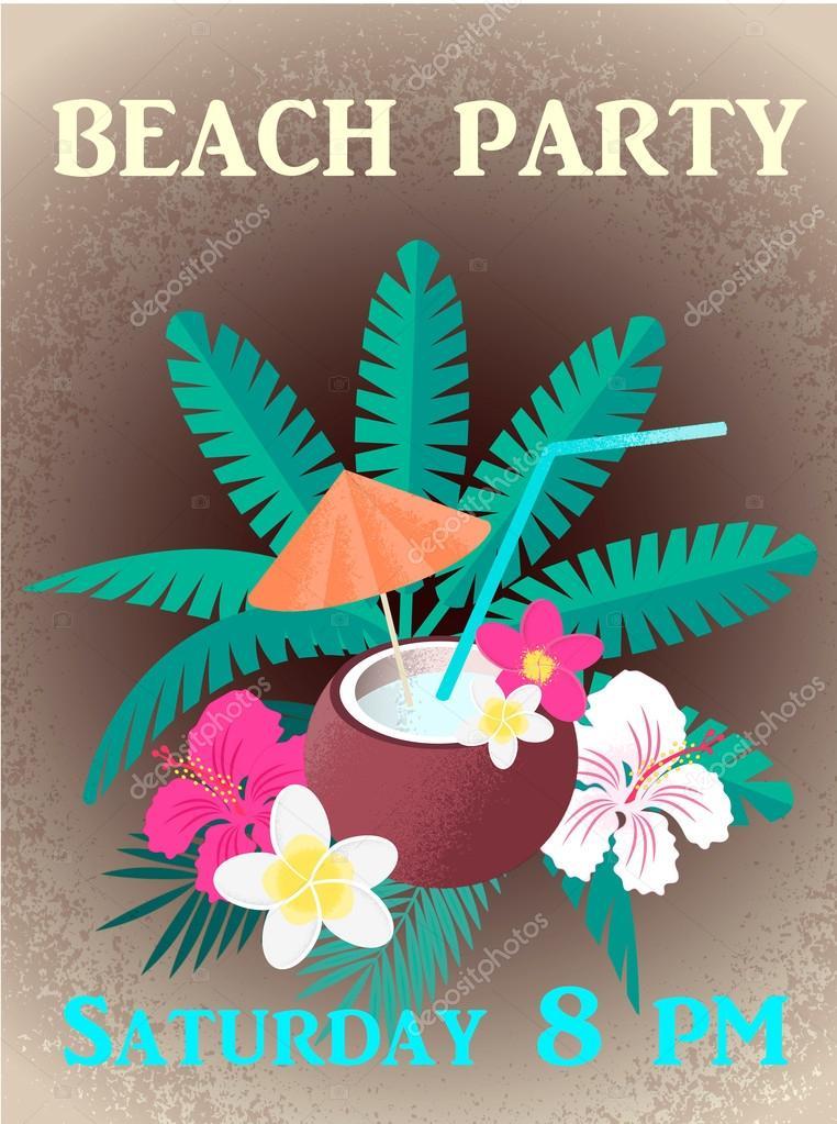 d65f53604d23 Invitacion para fiesta de playa   Invitación para el cartel de ...