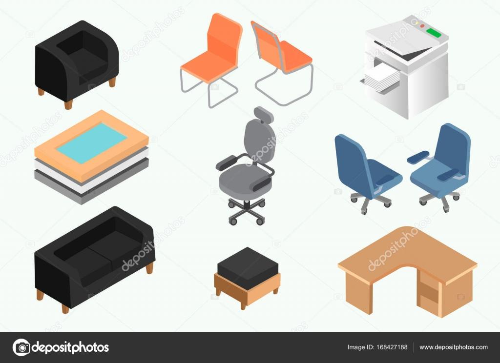 Conjunto de mobiliario de oficina y equipo para dise o for Mobiliario de oficina de diseno