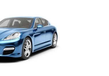 CG 3d render of generic luxury sport car isolated on a white background. Graphic illustration