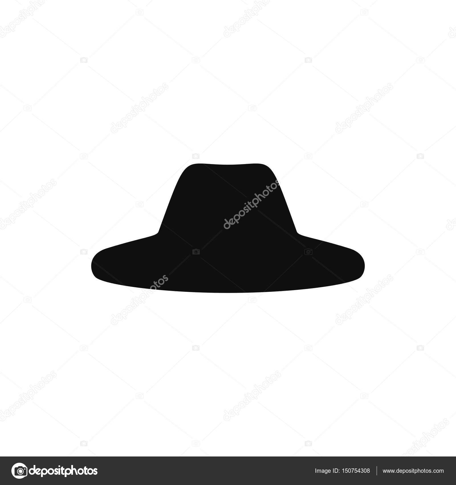 Silueta de sombreros retro. Sombrero superior aislado sobre fondo blanco.  Vector ilustración eps10 - imágenes  sombrero de gaucho — Vector de  whilerests ... 72ee174d97a