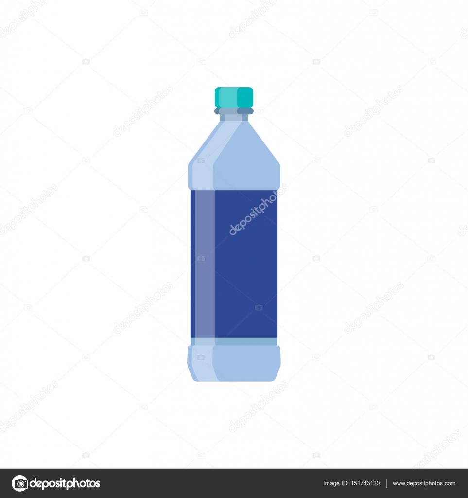 verre eau plate design de la bouteille. illustration vectorielle