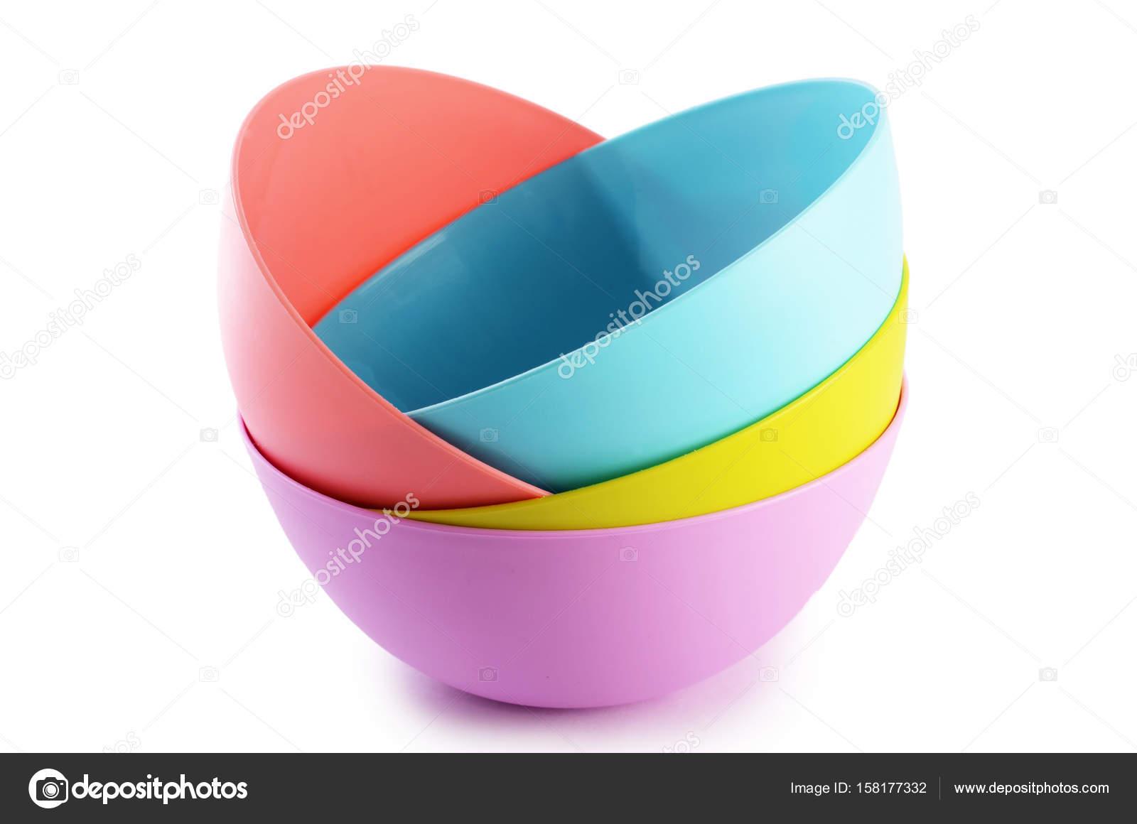 Plastic colorful plates isolated on white u2014 Stock Photo  sc 1 st  Depositphotos & Plastic colorful plates isolated on white u2014 Stock Photo © sveta ...