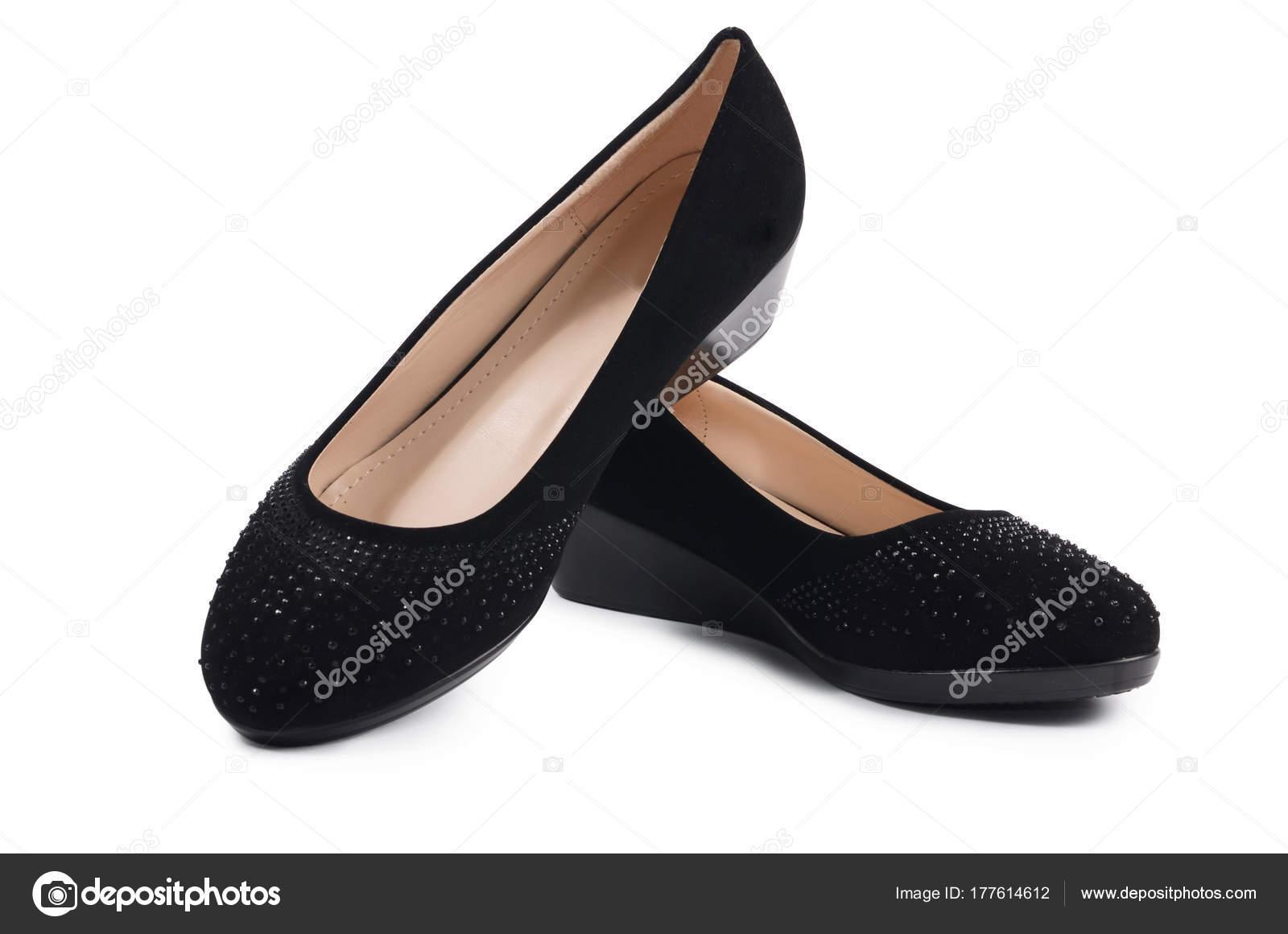 3a8ea1df1c Zapatos Negros Mujer Aislados Sobre Fondo Blanco — Fotos de Stock ...