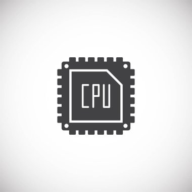 Processor chip related icon on background for graphic and web design. Creative illustration concept symbol for web or mobile app.
