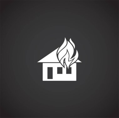 Fire related icon on background for graphic and web design. Creative illustration concept symbol for web or mobile app.