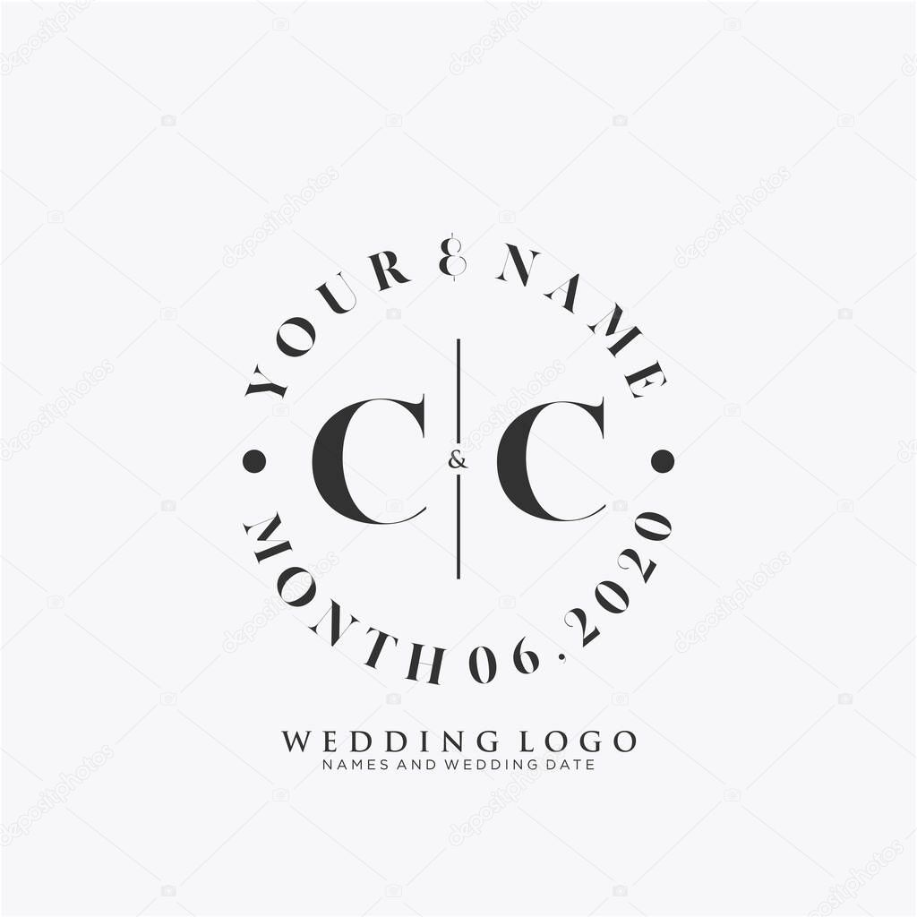 Cc Initial Beauty Monogram And Elegant Logo Design Handwriting Logo Of Initial Signature Wedding Fashion Floral And Botanical With Creative Template Premium Vector In Adobe Illustrator Ai Ai Format