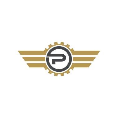 P Letter logo icon design template elements