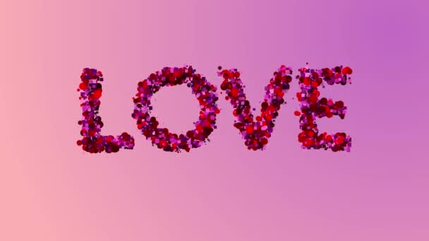 Valentines Day text růžová láska