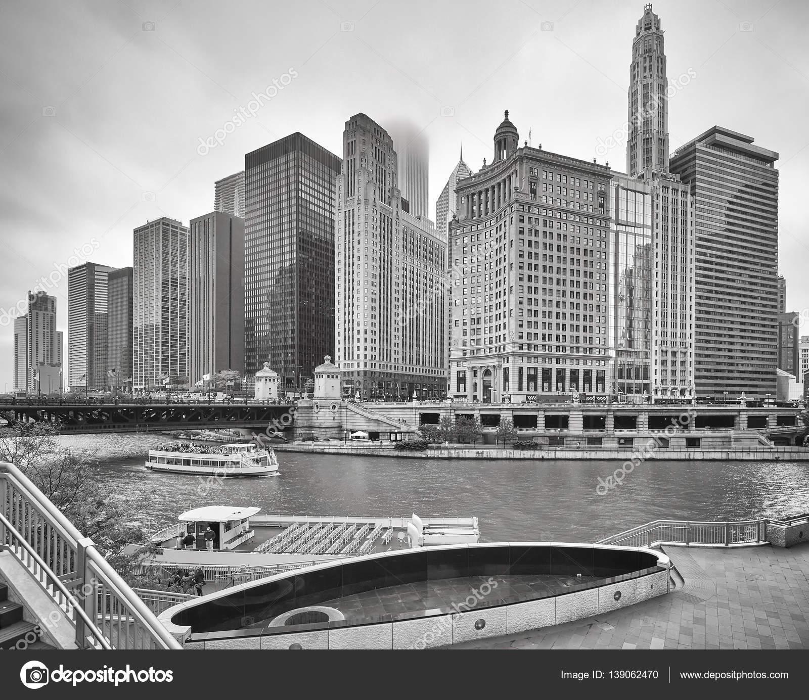 Chicago Skyline Wallpaper Black And White Black And White