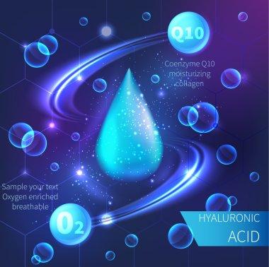 Drop of hyaluronic acid