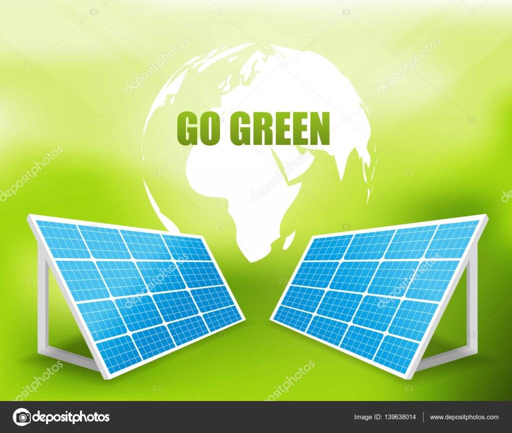 Solar energy panels — Stock Vector © Chalapan #139638014