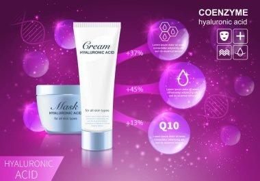Coenzyme hyaluronic cosmetics