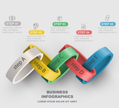 graphic steps of business infographics