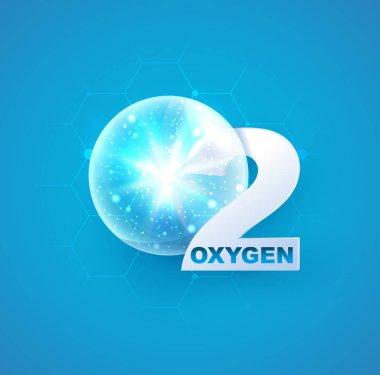 oxygen icon for decoration cosmetics