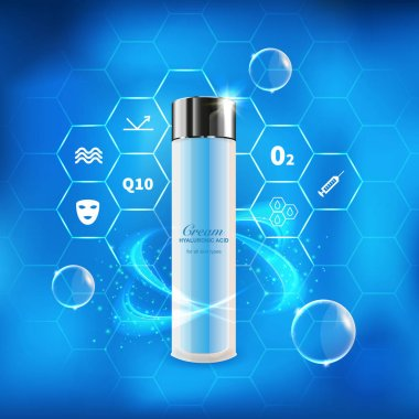 serum hyaluronic cosmetic bottle