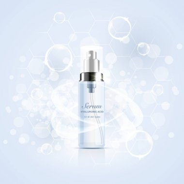 hyaluronic cosmetic bottle