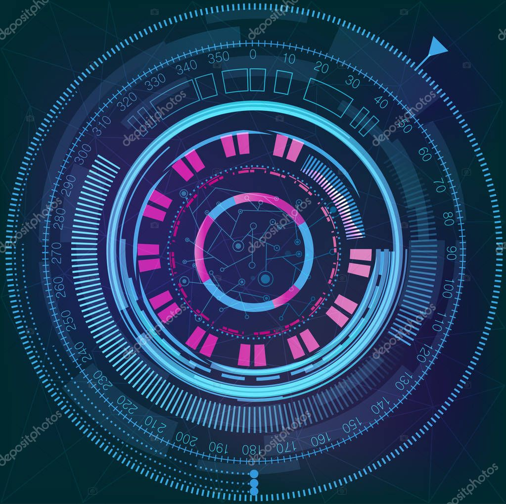 space futuristic interface