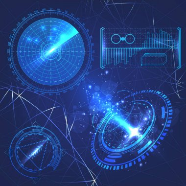 HUD elements futuristic design