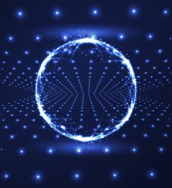 Polygonal sphere HUD