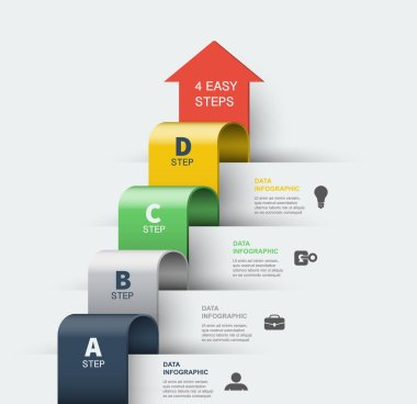 Step by step infographics elements