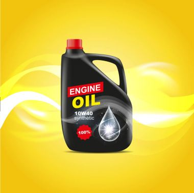 black can of engine oil