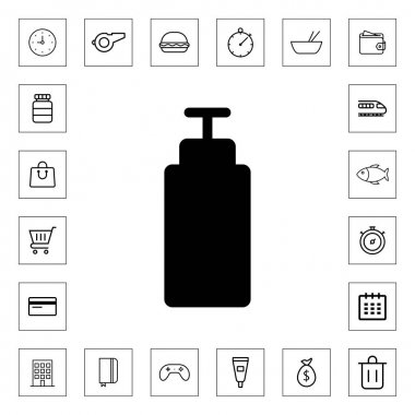 Bottle soap icon for web and mobile