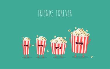 Funny cartoon popcorn boxes