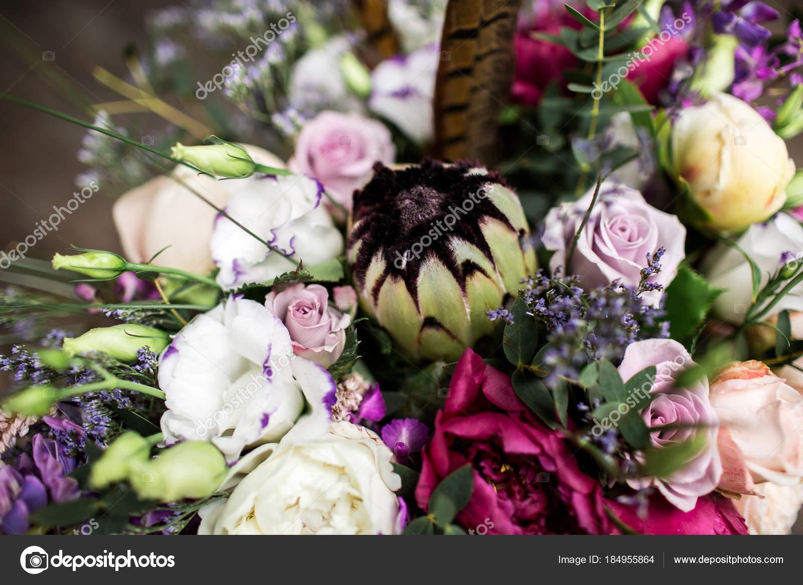 Hochzeit Blumenstrauss Im Boho Stil Stockfoto C Olgamaer 184955864