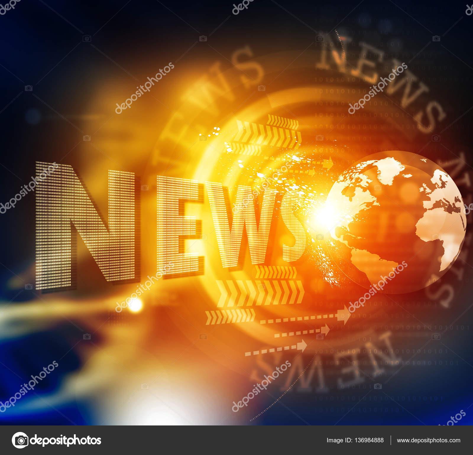 Wörter Nachrichten auf digitalen Hintergrund — Stockfoto ...