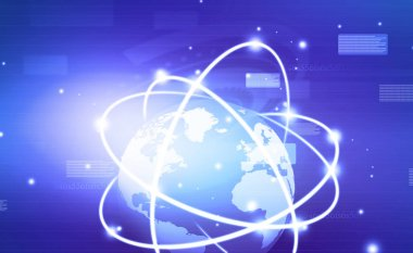Global network conception. business network