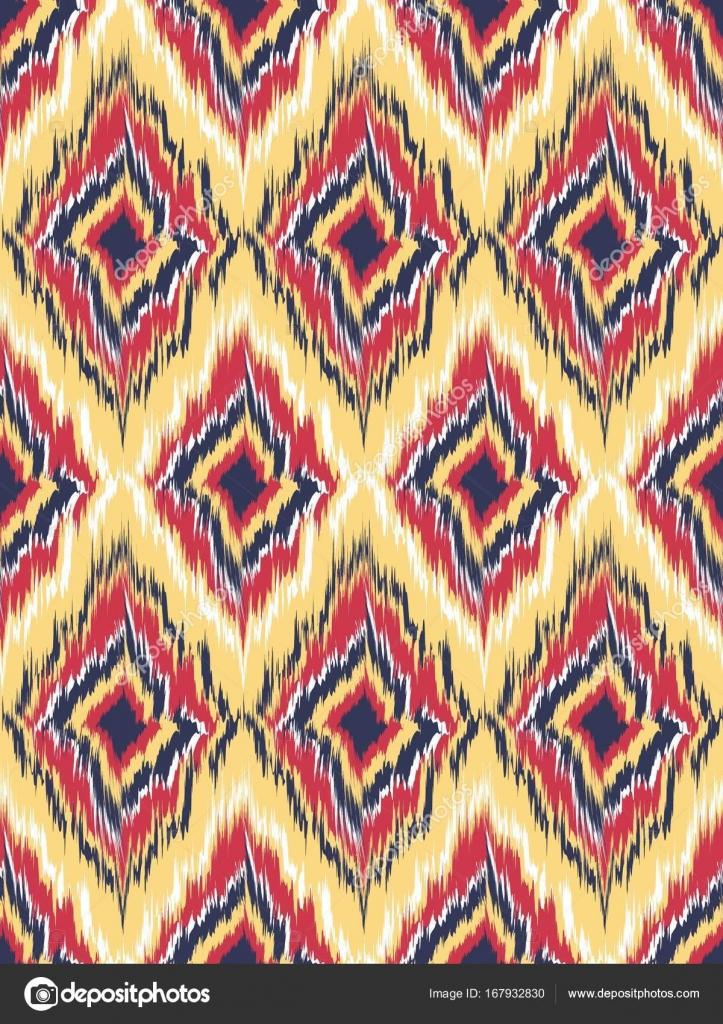 Nahtlose Muster Tribal Art Ikat Ogee Stockvektor Nastyaaroma2011