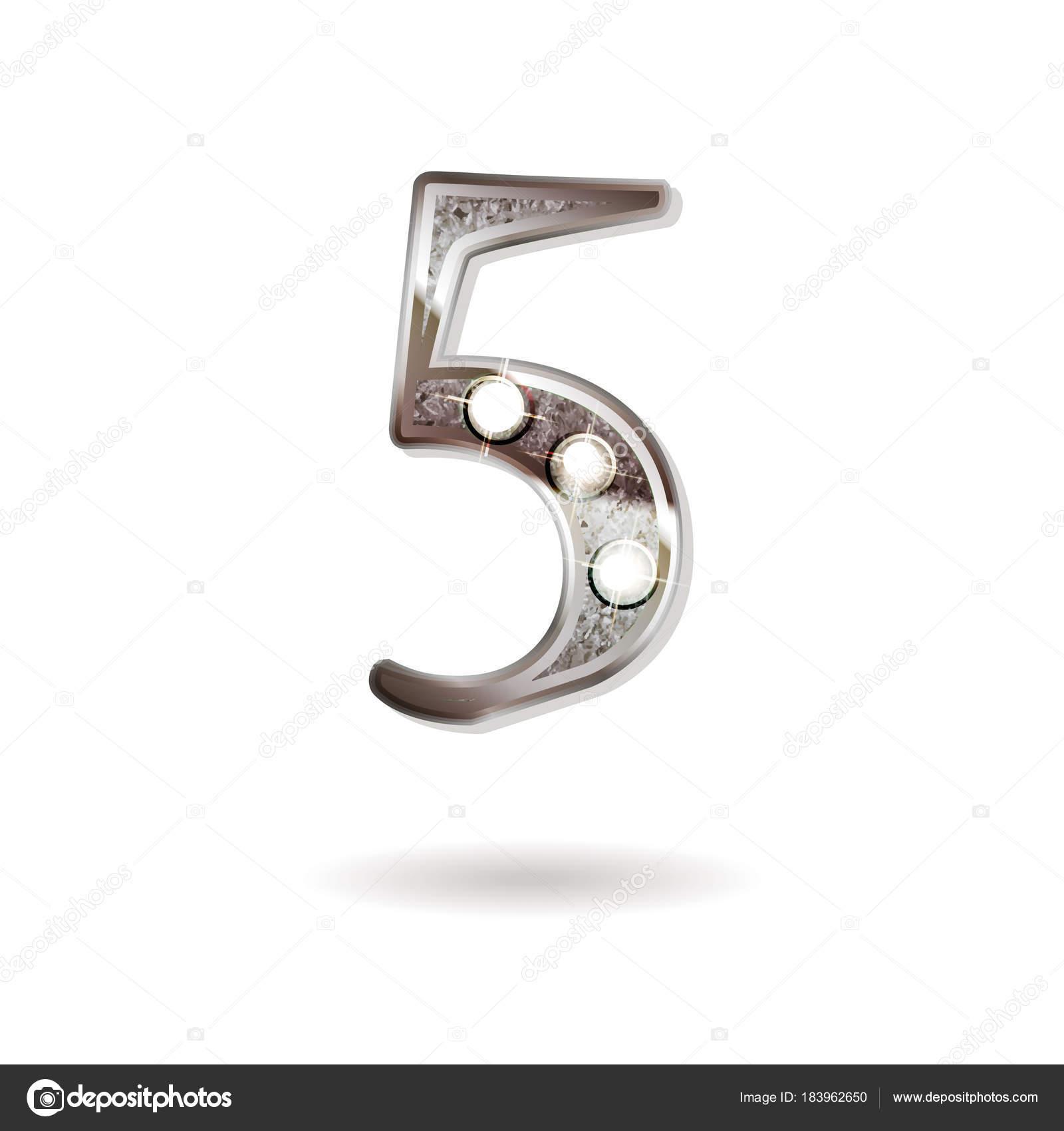 5 Years Anniversary Celebration Design Stock Vector