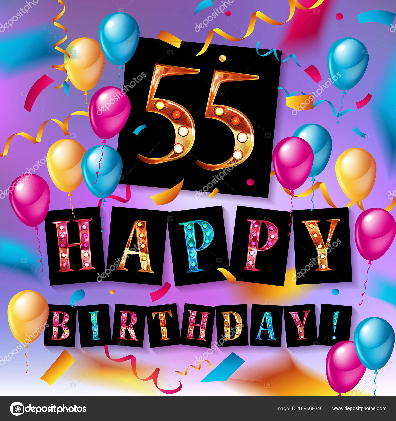 55 Jaar Verjaardag Viering Ontwerp Stockvector C Nastyaaroma2011