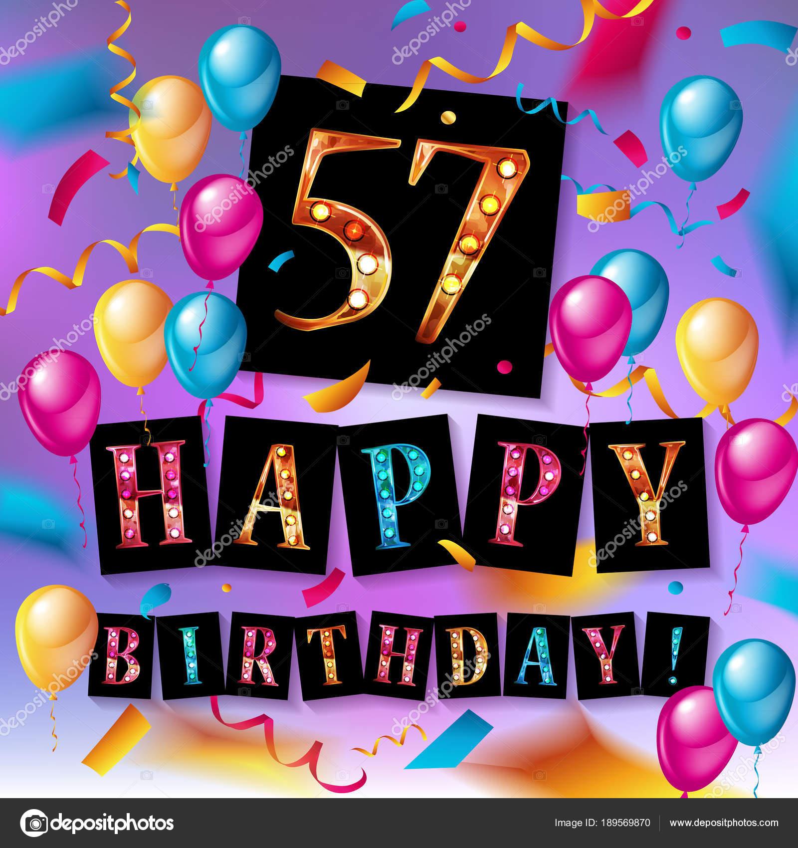 57 jaar 57 jaar verjaardag vectorillustratie — Stockvector  57 jaar