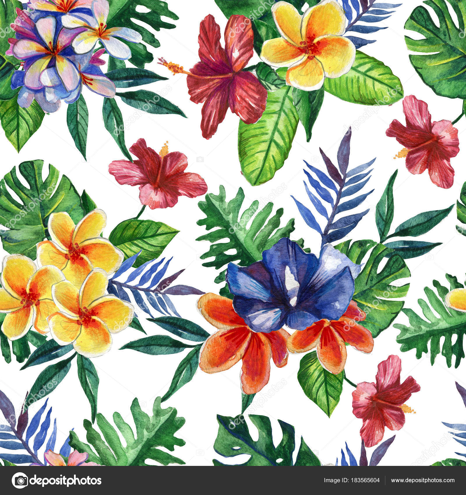 Tropical Watercolor Pretty Backgrounds