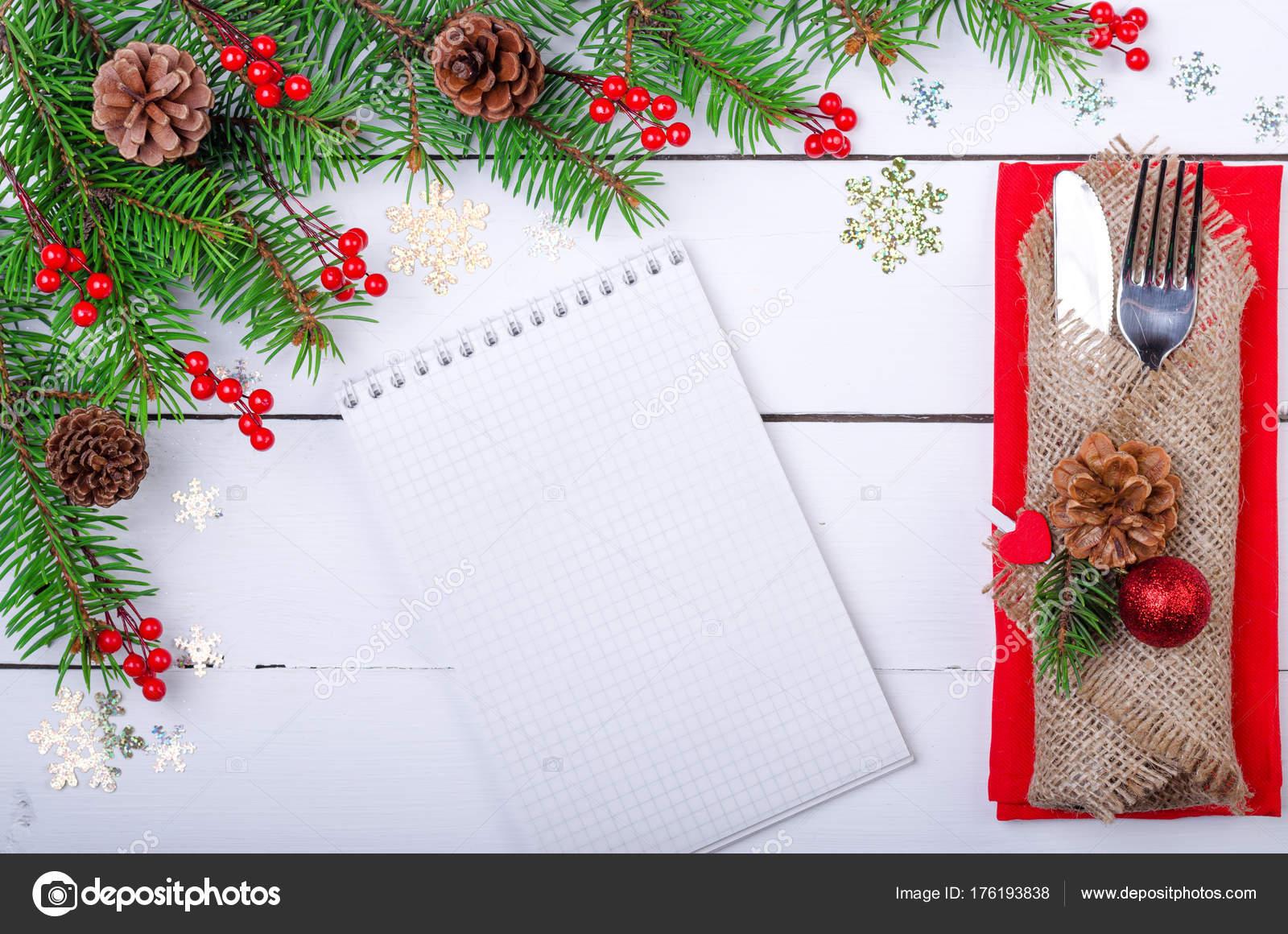 Immagini Di Natale Per Sfondo.Tavola Di Natale Sfondo Per Il Menu Foto Stock